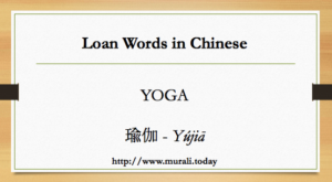 yoga in chinese