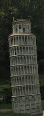 Leaning tower of Pisa replica