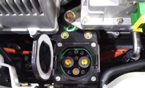 Charging Plug in an electric car