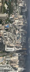 Panoramic city of Shenzhen from Meridian View centre
