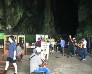 Dark Cave entrance, Batu Caves, Kuala Lumpur, Malaysia
