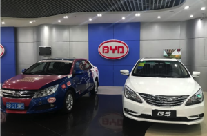 BYD electric cars